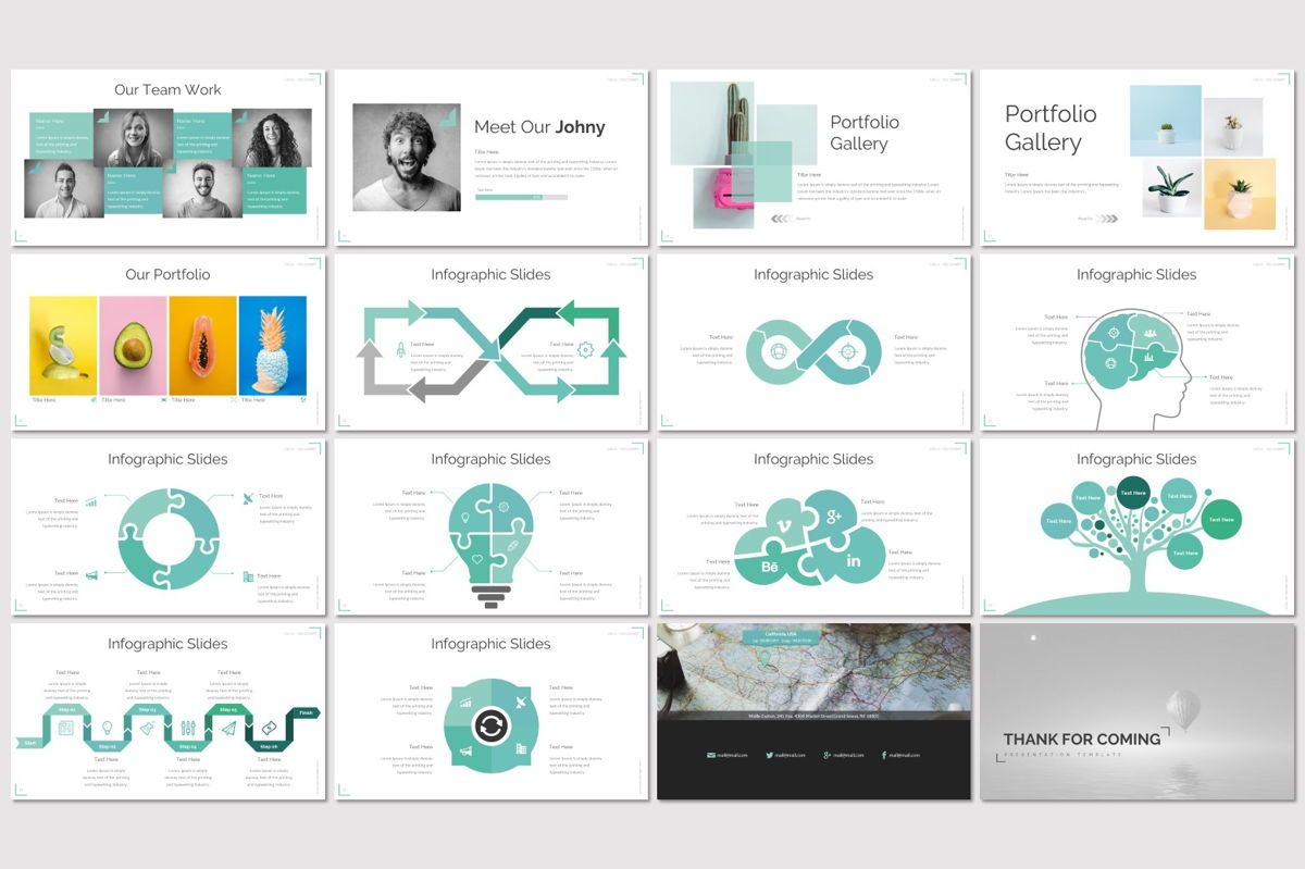 Corner - PowerPoint Template, Slide 3, 06922, Infographics — PoweredTemplate.com