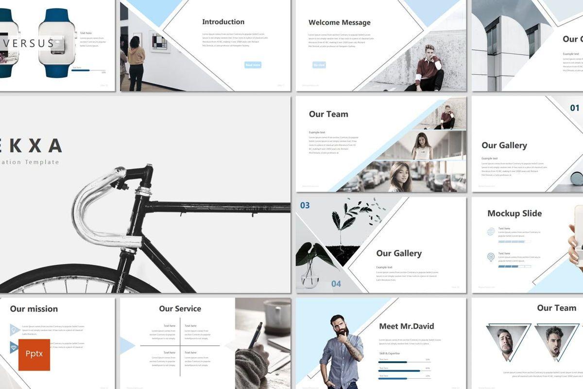 Rekxa - PowerPoint Template, 06923, Infographics — PoweredTemplate.com