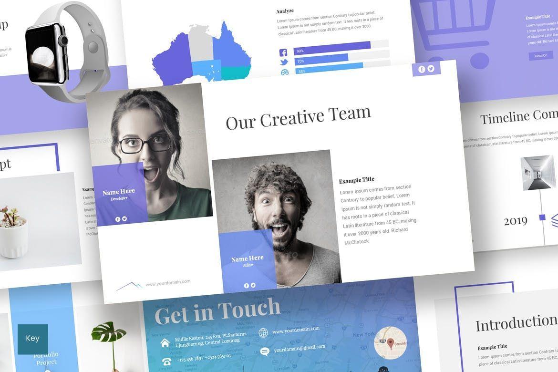 Everest - Keynote Template, 06924, Infographics — PoweredTemplate.com