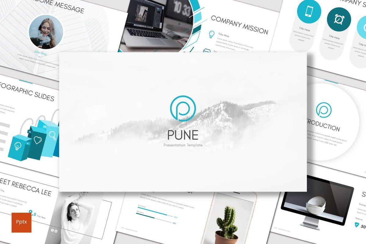 Pune - PowerPoint Template, 06925, Presentation Templates — PoweredTemplate.com