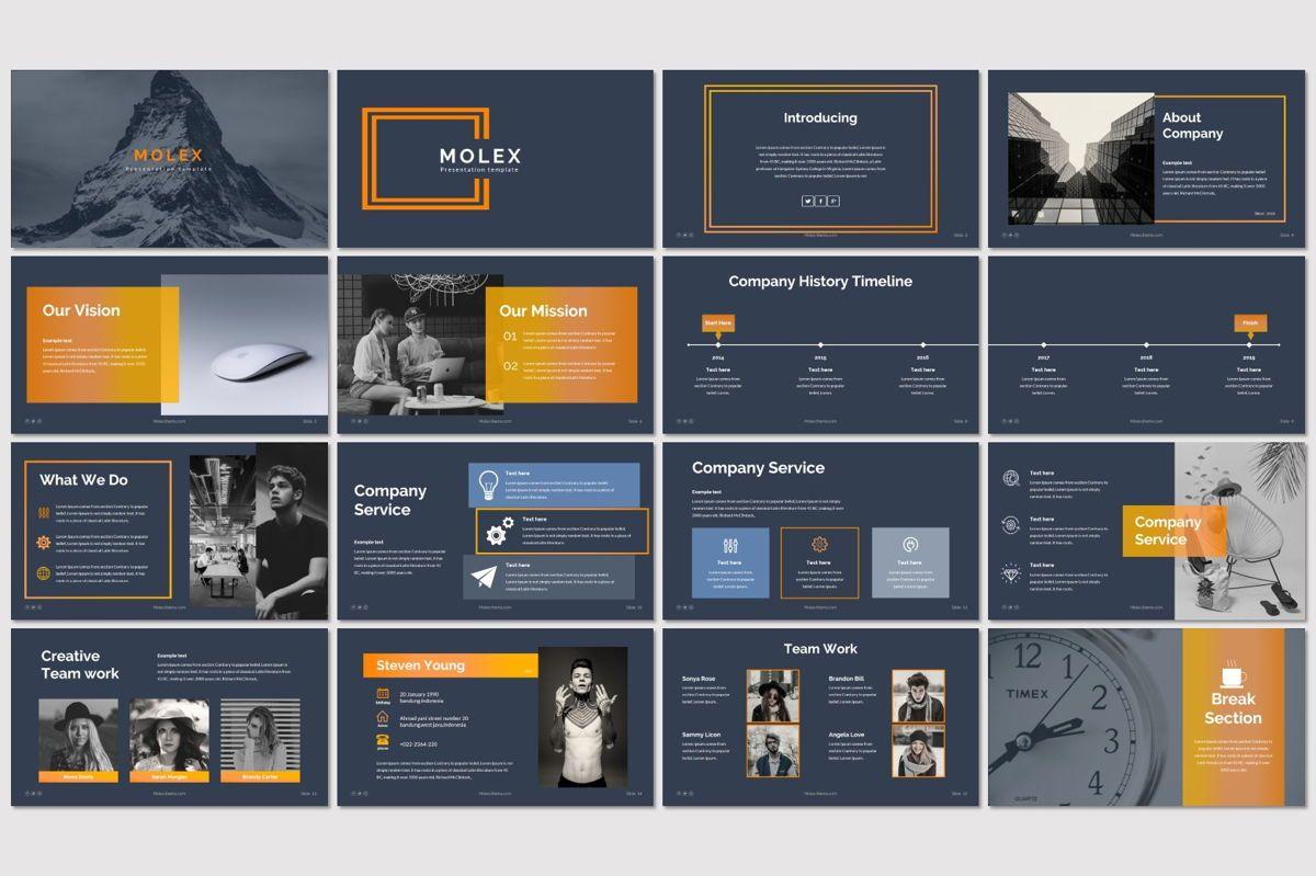 Molex - PowerPoint Template, Slide 2, 06927, Presentation Templates — PoweredTemplate.com