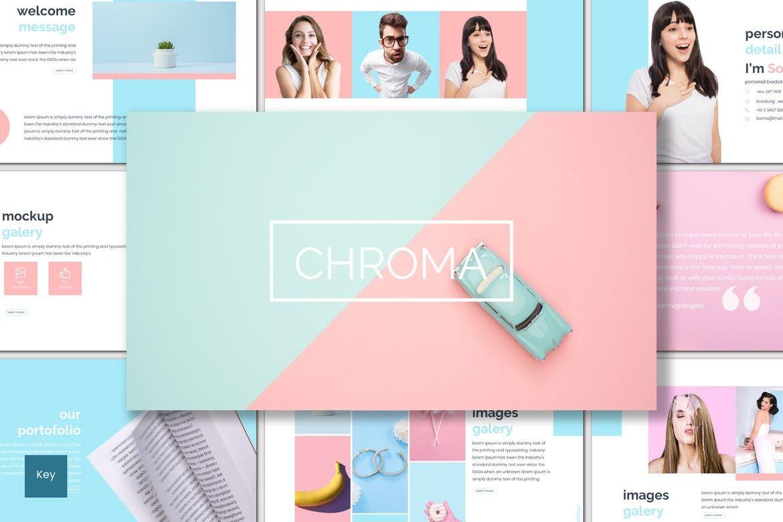 Chroma - Keynote Template, 06928, Presentation Templates — PoweredTemplate.com
