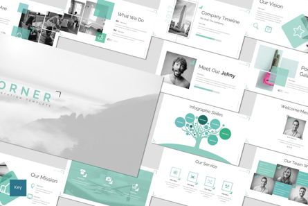 Presentation Templates: Corner - Keynote Template #06929