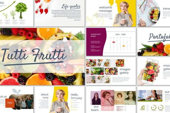 Presentation Templates: Tutti Frutti - PowerPoint Template #06930