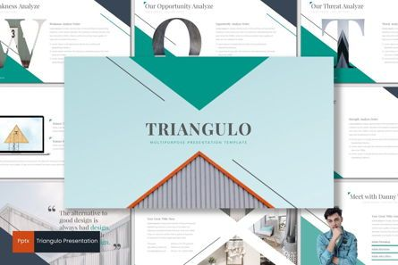 Presentation Templates: Triangulo - PowerPoint Template #06931
