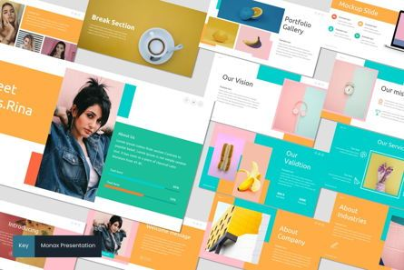 Presentation Templates: Monax - Keynote Template #06935