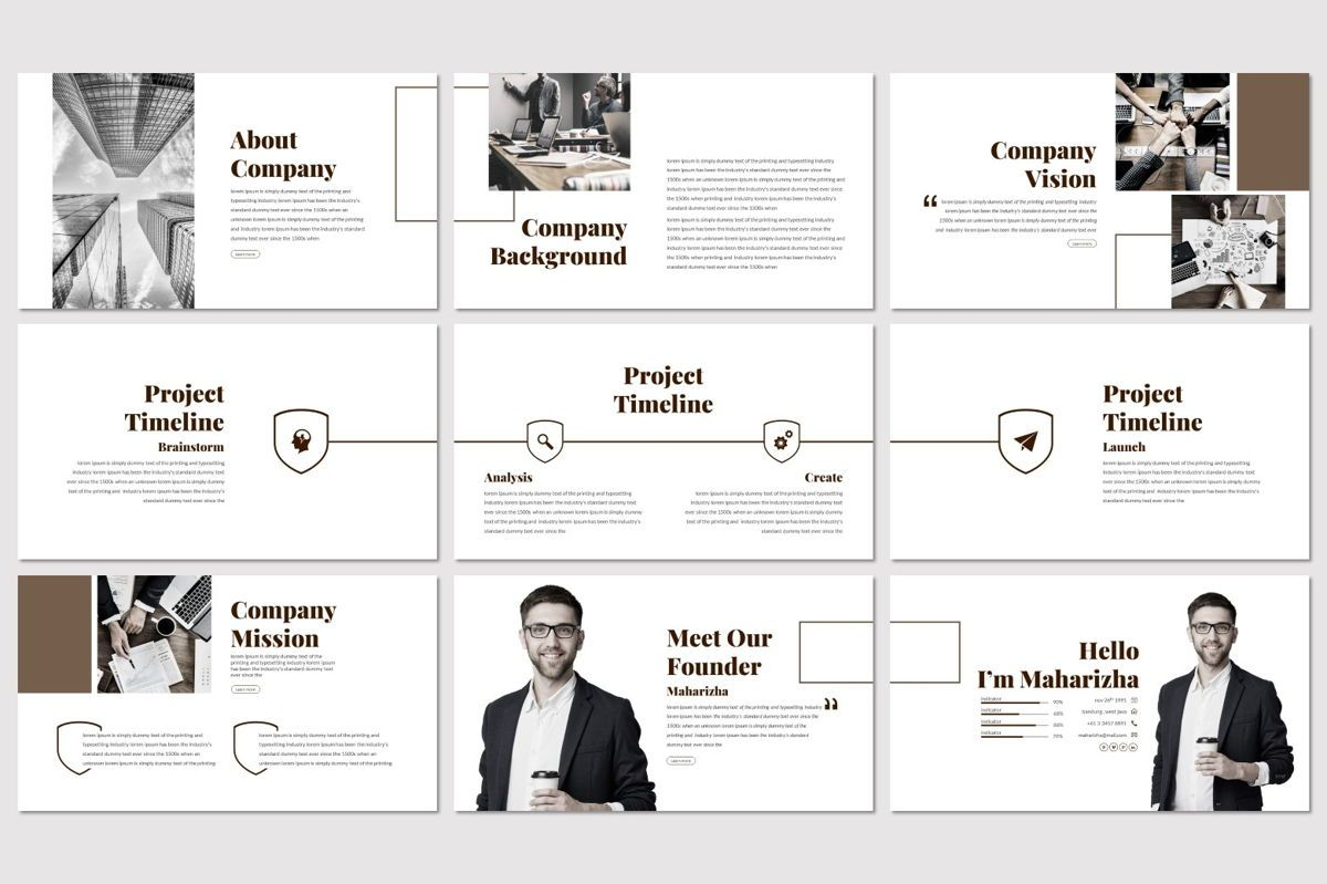 Vanguard - Powerpoint Template, Slide 3, 06936, Presentation Templates — PoweredTemplate.com
