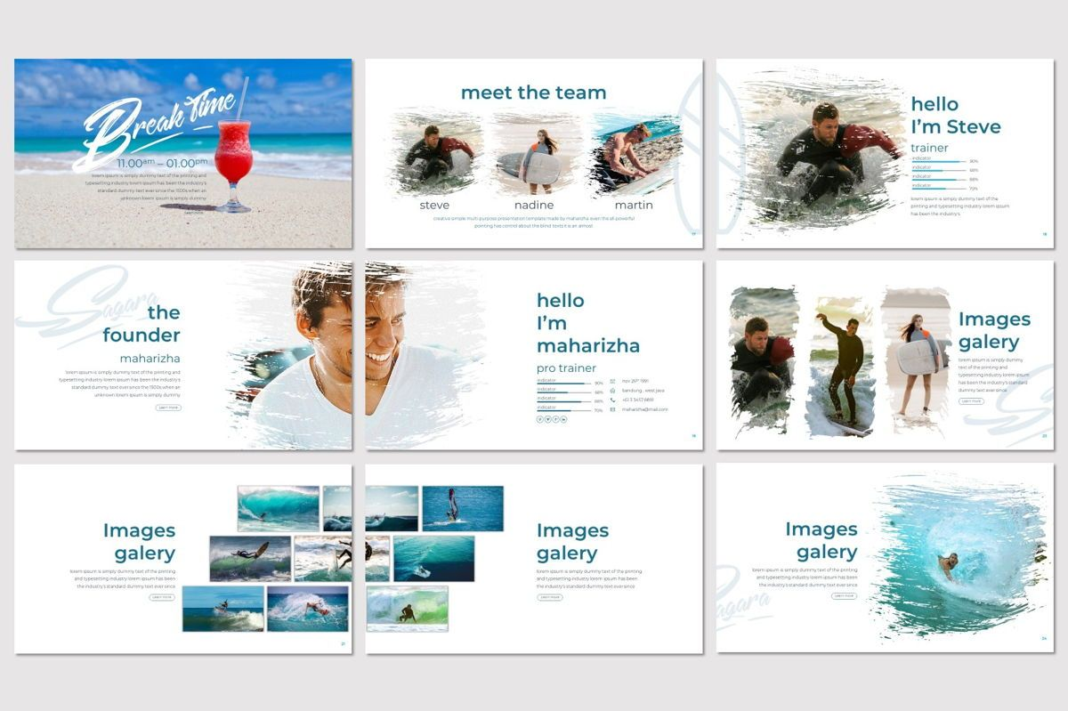 Sagara - Keynote Template, Slide 4, 06937, Presentation Templates — PoweredTemplate.com