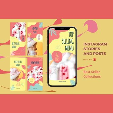 Business Models: Instagram stories and posts powerpoint template - best seller collections #06938