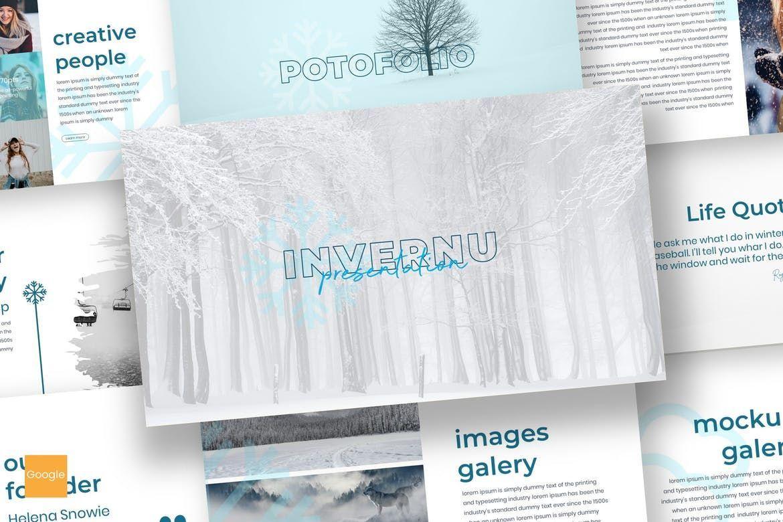 Invernu - Google Slides Template, 06940, Presentation Templates — PoweredTemplate.com