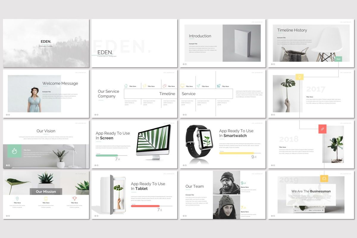 Eden - PowerPoint Template, Slide 2, 06942, Presentation Templates — PoweredTemplate.com