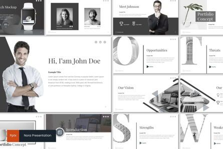 Presentation Templates: Nora - PowerPoint Template #06945
