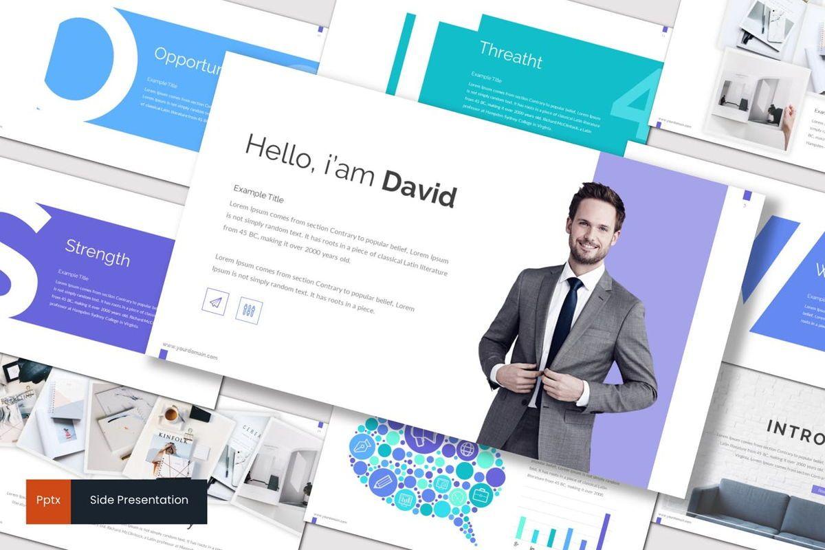 Side - PowerPoint Template, 06946, Presentation Templates — PoweredTemplate.com