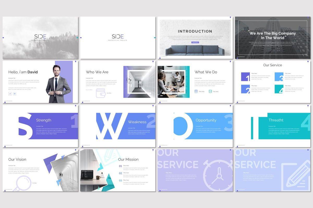 Side - PowerPoint Template, Slide 2, 06946, Presentation Templates — PoweredTemplate.com