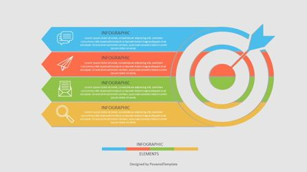 Infographics: Target with Four Options Infographic #06948
