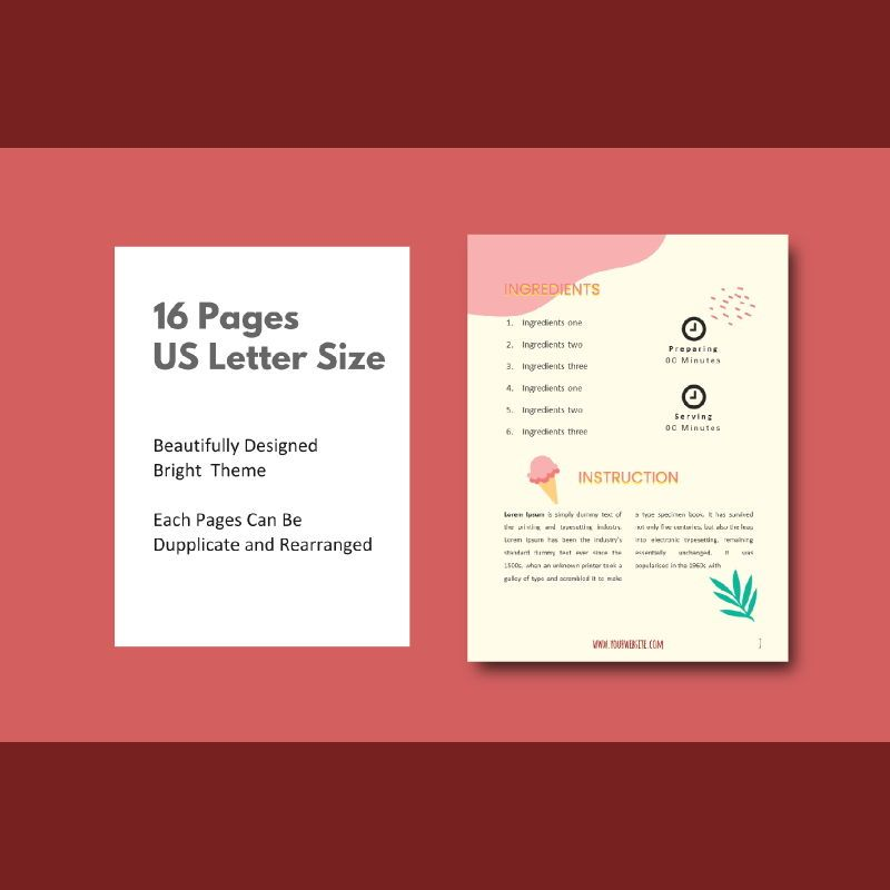 Recipe ebook ice cream powerpoint presentation templates, Slide 4, 06950, Presentation Templates — PoweredTemplate.com