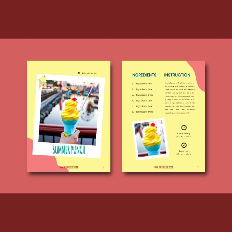 Recipe ebook ice cream powerpoint presentation templates, Slide 5, 06950, Presentation Templates — PoweredTemplate.com