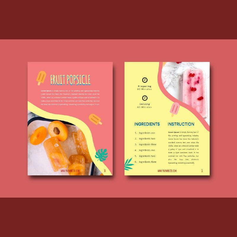Recipe ebook ice cream powerpoint presentation templates, Slide 6, 06950, Presentation Templates — PoweredTemplate.com