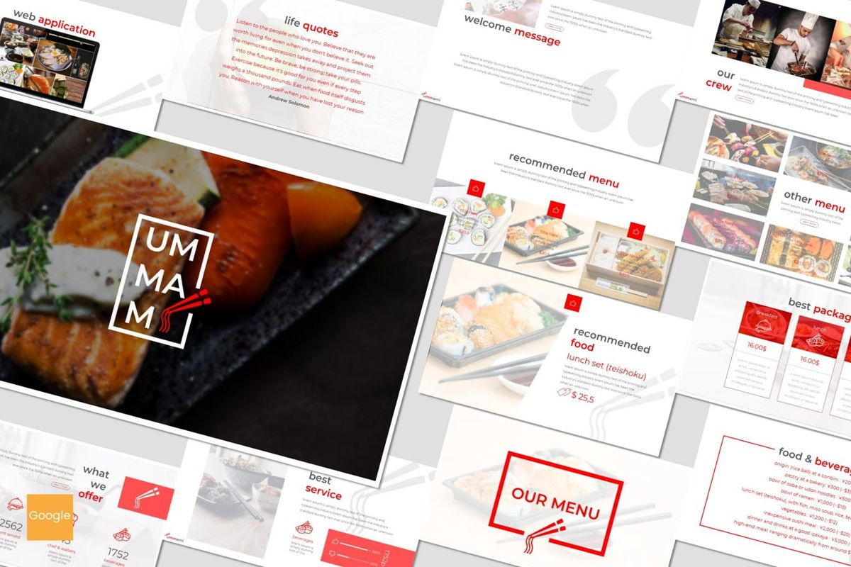 Ummami - Google Slides Template, 06954, Presentation Templates — PoweredTemplate.com