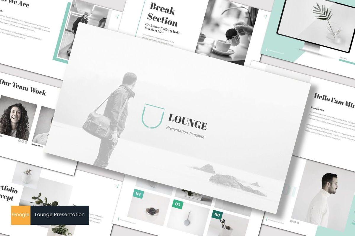 Lounge - Google Slides Template, 06955, Presentation Templates — PoweredTemplate.com