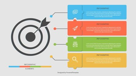 Infographics: Target with Four Options Infographic #06958
