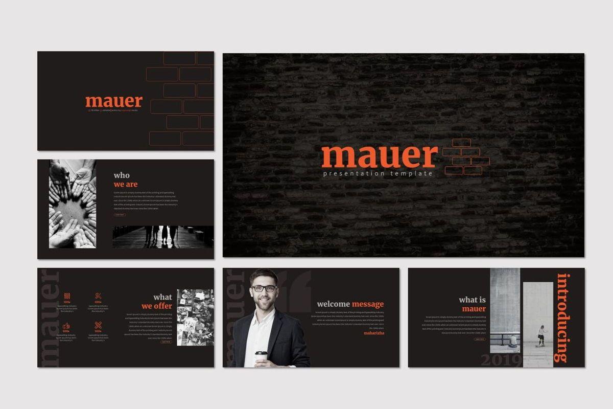 Mauer - Google Slides Template, Slide 2, 06960, Presentation Templates — PoweredTemplate.com