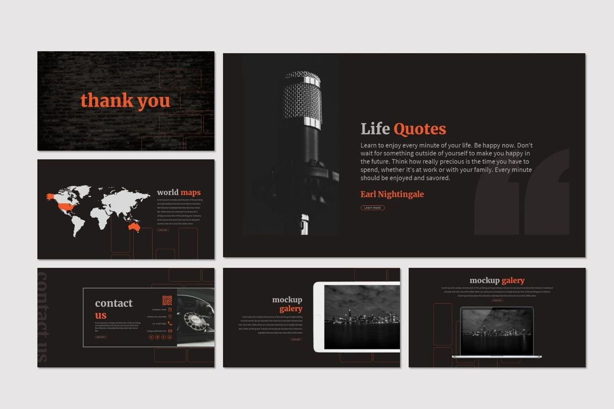 Mauer - Google Slides Template, Slide 6, 06960, Presentation Templates — PoweredTemplate.com