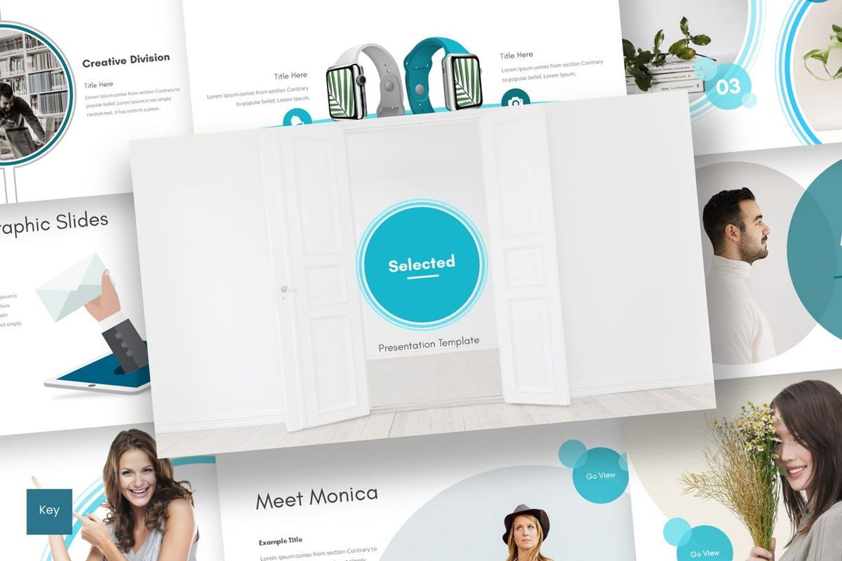 Selected - Keynote Template, 06961, Presentation Templates — PoweredTemplate.com