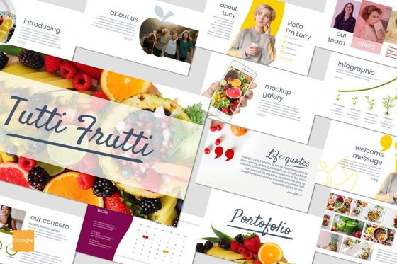 Presentation Templates: Tutti Frutti - Google Slides Template #06962
