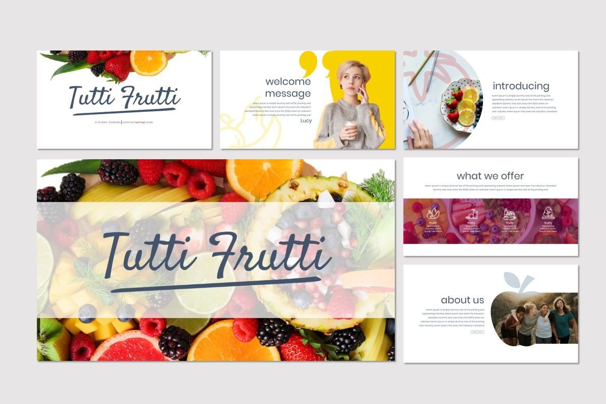 Tutti Frutti - Google Slides Template, Slide 2, 06962, Presentation Templates — PoweredTemplate.com