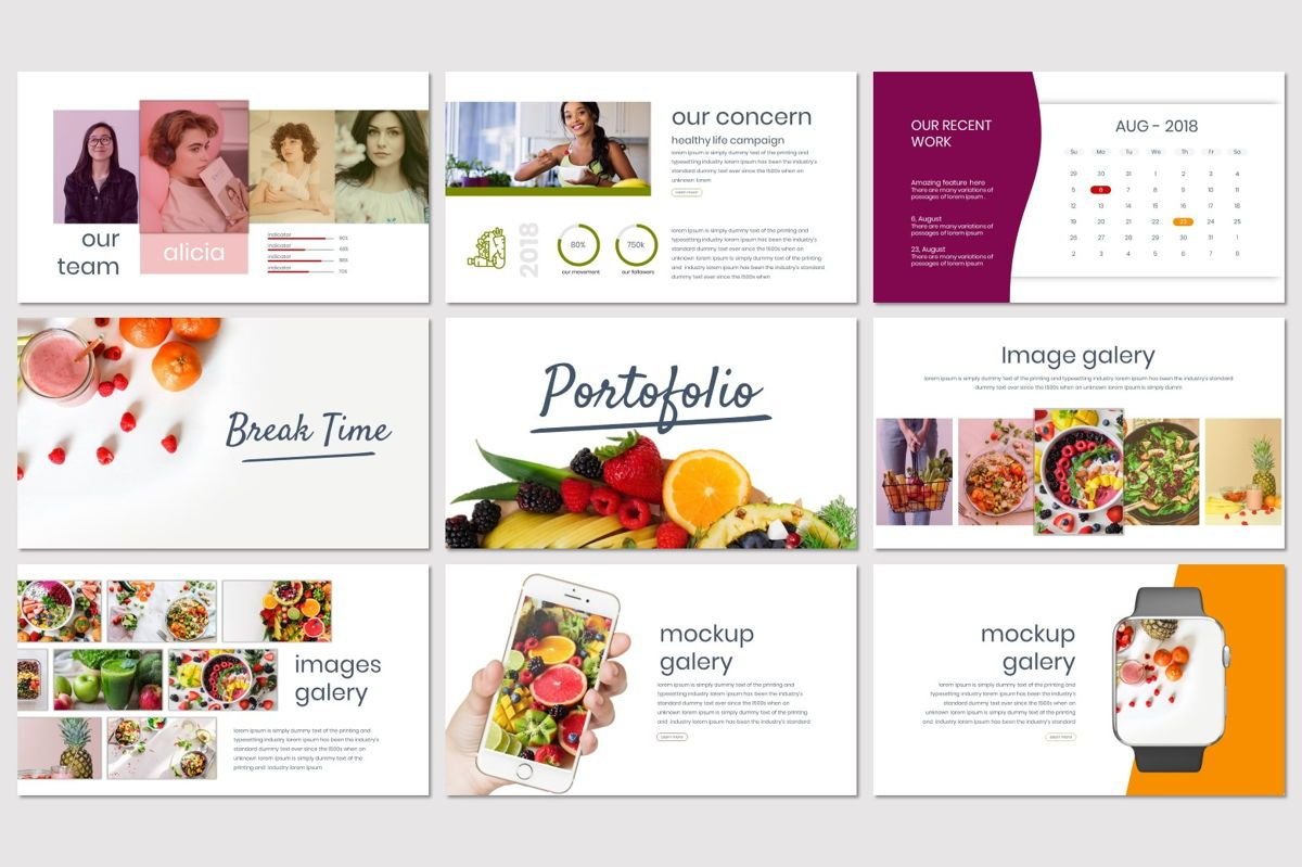 Tutti Frutti - Google Slides Template, Slide 4, 06962, Presentation Templates — PoweredTemplate.com