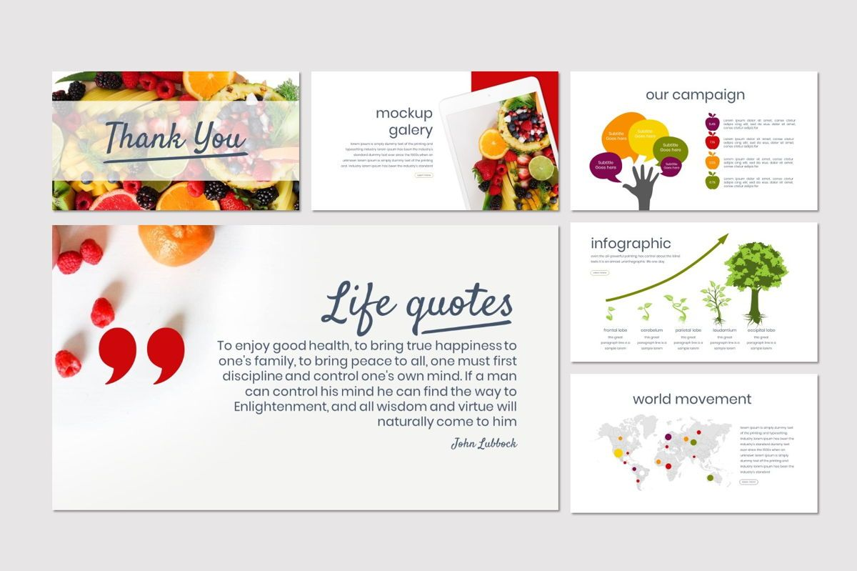 Tutti Frutti - Google Slides Template, Slide 5, 06962, Presentation Templates — PoweredTemplate.com