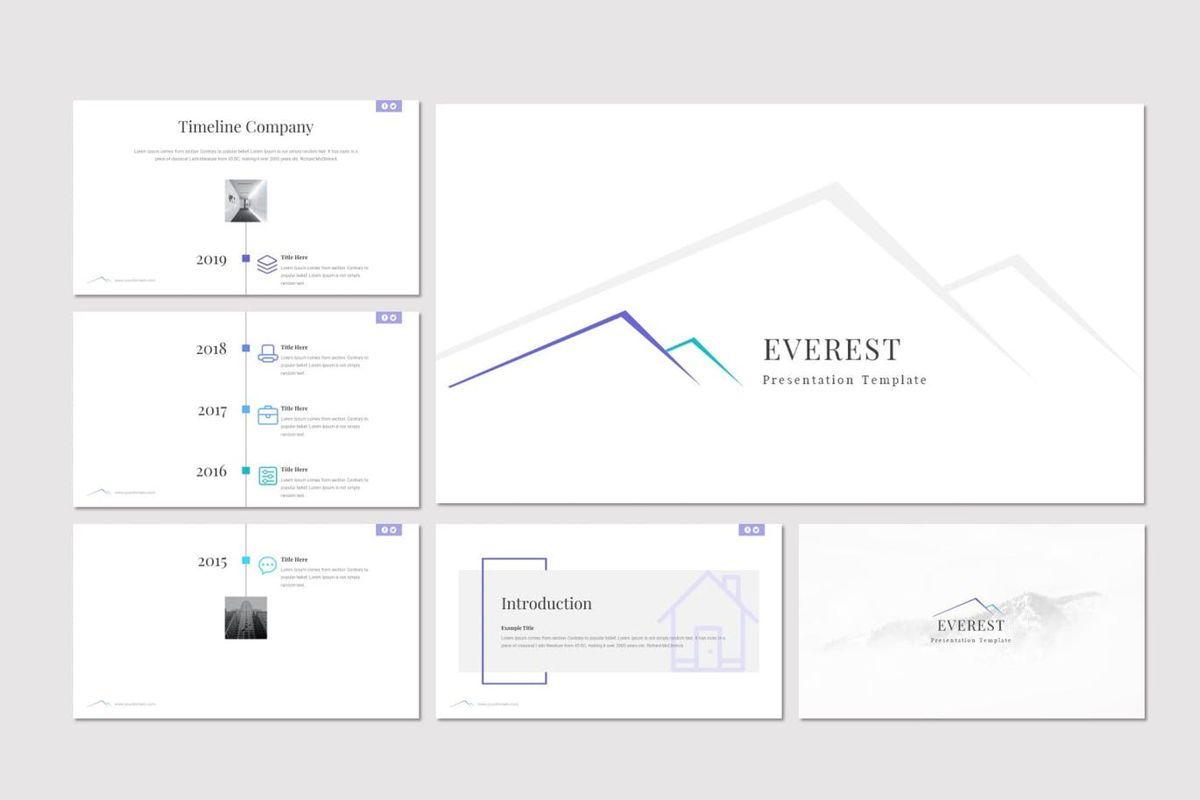 Everest - PowerPoint Template, Slide 2, 06965, Presentation Templates — PoweredTemplate.com