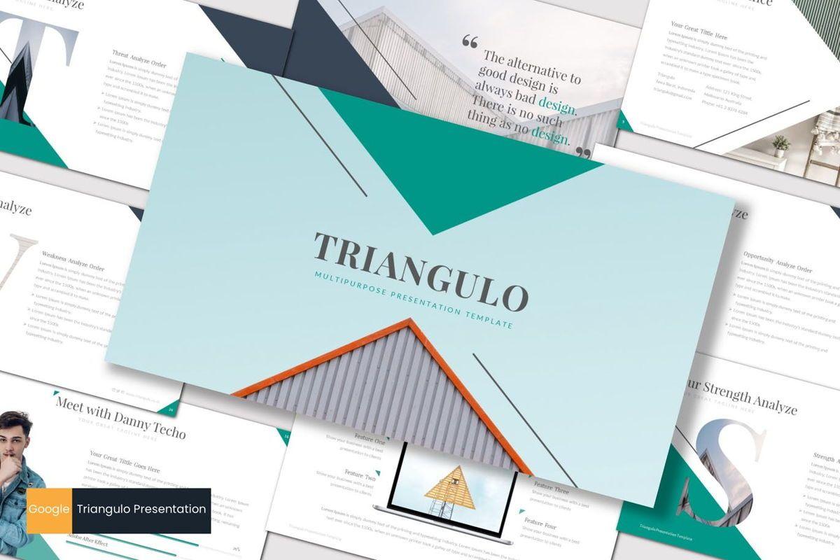Triangulo - Google Slides Template, 06966, Presentation Templates — PoweredTemplate.com