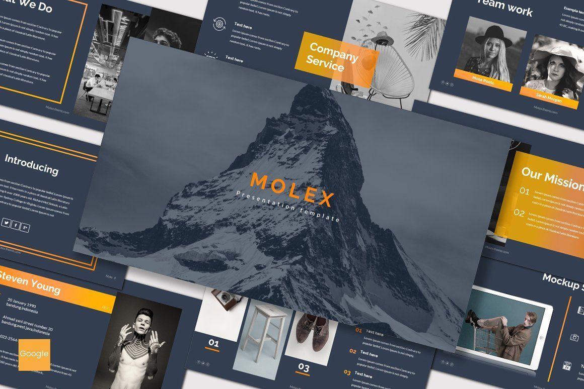 Molex - Google Slides Template, 06967, Presentation Templates — PoweredTemplate.com