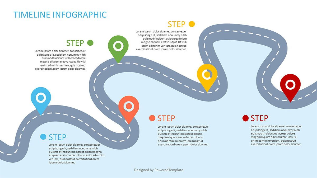 Roadmap Powerpoint Template Free from i.poweredtemplates.com