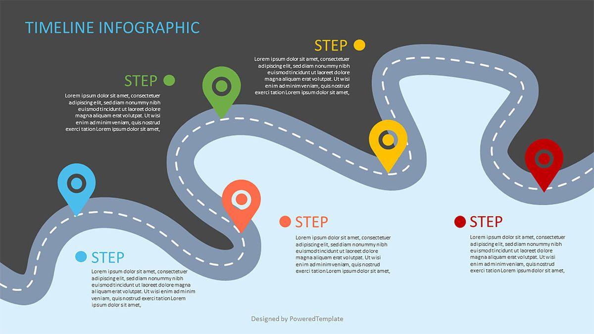 Roadmap with Milestones Infographic, Slide 2, 06969, Business Models — PoweredTemplate.com
