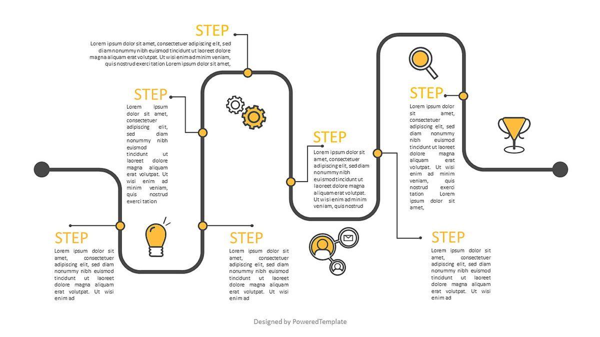 Timeline Workflow Infographic, 06970, Business Models — PoweredTemplate.com