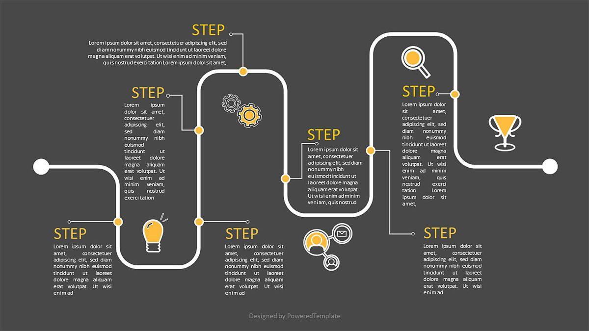 Timeline Workflow Infographic, Slide 2, 06970, Business Models — PoweredTemplate.com