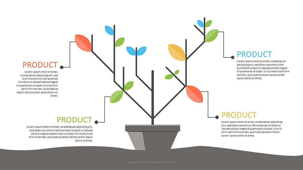 Product Tree Infographics, 06971, Infographics — PoweredTemplate.com