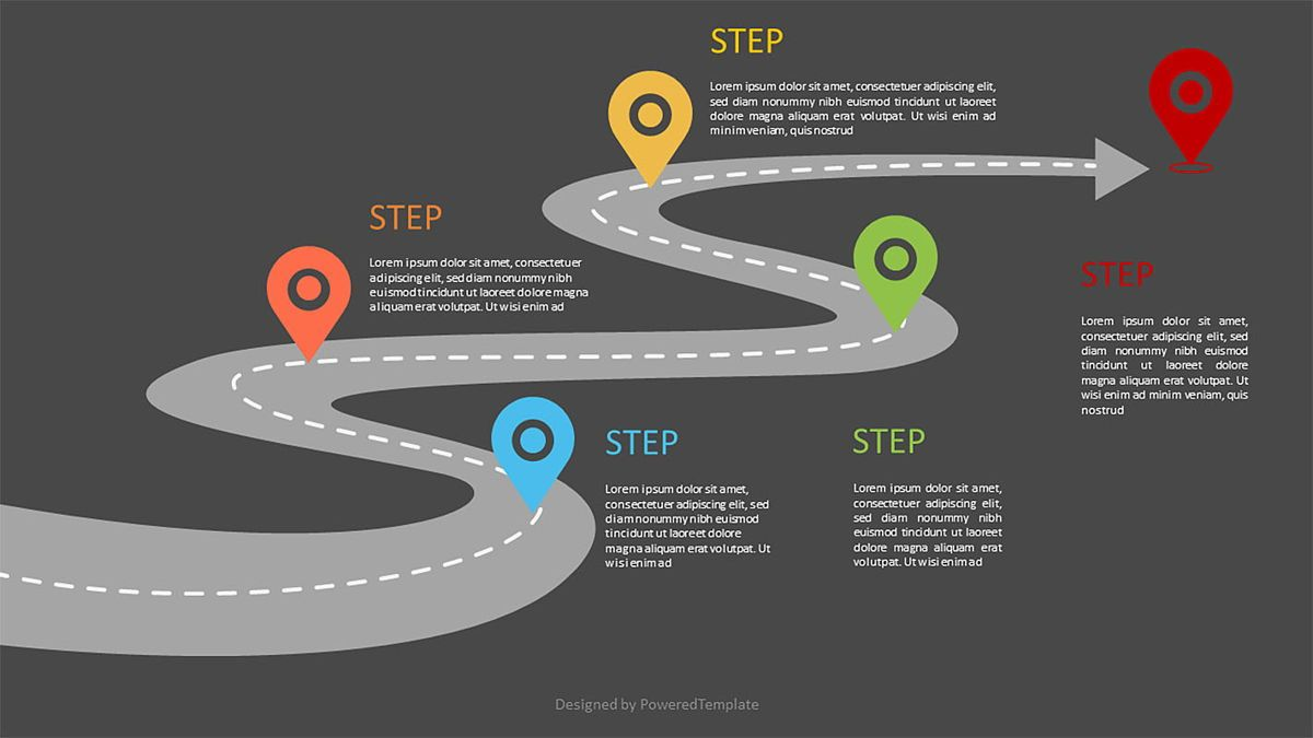 Road Way Infographic with Options, Slide 2, 06973, Business Models — PoweredTemplate.com