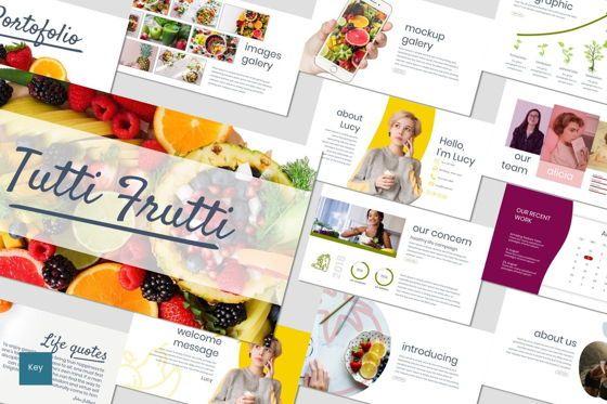Presentation Templates: Tutti Frutti - Keynote Template #06974