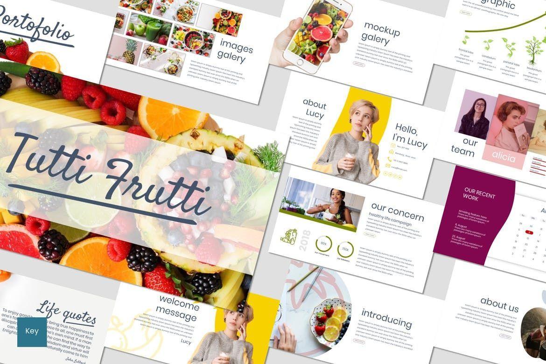 Tutti Frutti - Keynote Template, 06974, Presentation Templates — PoweredTemplate.com