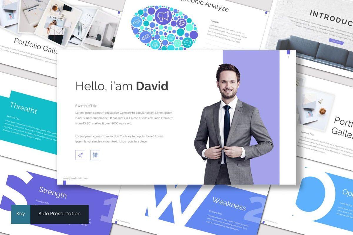 Side - Keynote Template, 06975, Presentation Templates — PoweredTemplate.com