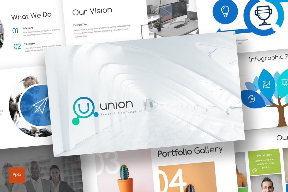 Union - Powerpoint Template, 06979, Presentation Templates — PoweredTemplate.com