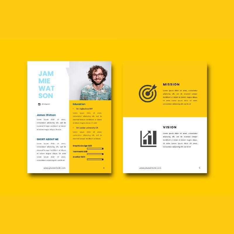 Graphic designer portfolio ebook powerpoint presentation templates, Slide 3, 06980, Presentation Templates — PoweredTemplate.com