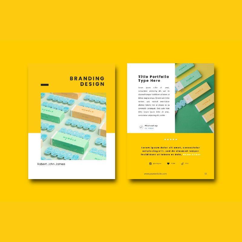 Graphic designer portfolio ebook powerpoint presentation templates, Slide 5, 06980, Presentation Templates — PoweredTemplate.com