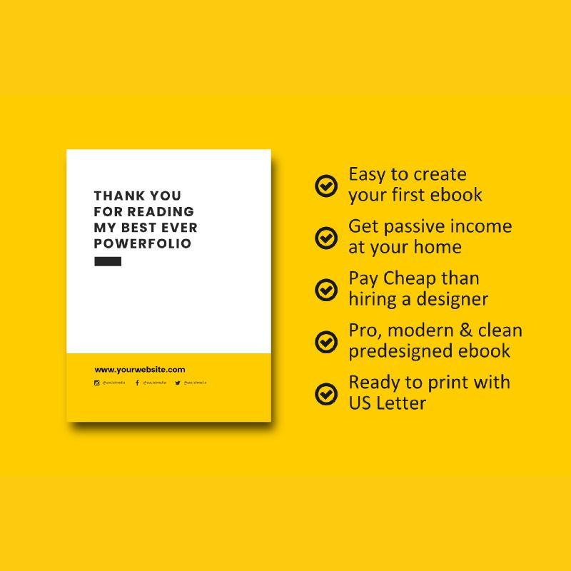 Graphic designer portfolio ebook powerpoint presentation templates, Slide 8, 06980, Presentation Templates — PoweredTemplate.com