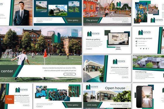 Presentation Templates: Estate - PowerPoint Template #06983