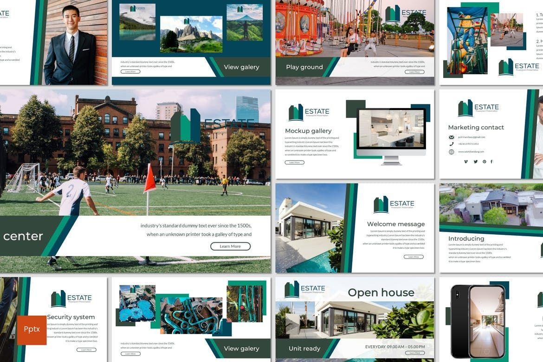 Estate - PowerPoint Template, 06983, Presentation Templates — PoweredTemplate.com